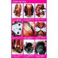 コスプレ 衣装 ハロウィン 仮装 コスチューム レディース VFTQ(ビフテキ)VF-OR-HEAD02ヘッドアクセサリ:カーリーヘッドダークオレンジ/シルバー