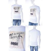 2016年秋冬新作 ディースクエアード DSQUARED2 Tシャツ 半袖 丸首 メンズ S74GD0147S22844 ホワイト SALE16AW
