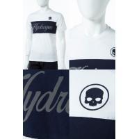 ハイドロゲン HYDROGEN Tシャツ 半袖 丸首 メンズ 200618 ホワイト×ネイビー HYD底値挑戦 2017AW_SALE
