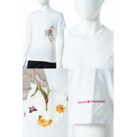 2017年春夏新作 ダニエレアレッサンドリーニ DANIELEALESSANDRINI Tシャツ 半袖 丸首 MAGLIA FARFALLE BIC ST メンズ M6132E6433700 ホワイト 2017SS_SALE
