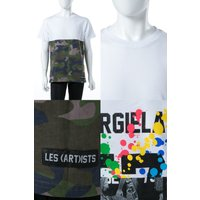 2017年秋冬新作 レスアーティスト LES ART ISTS Tシャツ 半袖 丸首 メンズ LA05TEE2028WHCA ホワイト×メイサイ
