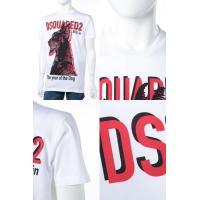 ディースクエアード DSQUARED2 Tシャツ 半袖 丸首 メンズ S74GD0402S22427 ホワイト 2018年春夏新作