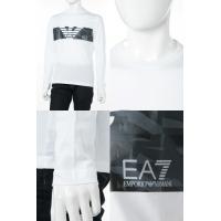 アルマーニ エンポリオアルマーニ Emporio Armani EA7 ロングTシャツ ロンT 長袖 丸首 メンズ 3ZPT47 PJ30Z ホワイト