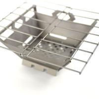 軽量、丈夫なチタン製組み立て式ストーブです。 コンパクトに折り畳みが可能、少人数でのバーベキューやキ...
