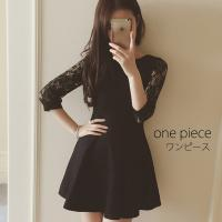 シンプル ワンピース ドレス  肌さわりが良い、タイトシルエットのドレスです。旅行や出張、アフターフ...