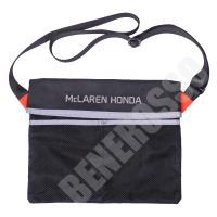 マクラーレン・ホンダ 応援グッズ  ナイロン製のショルダーバッグです。 バッグにファスナーやボタン等...