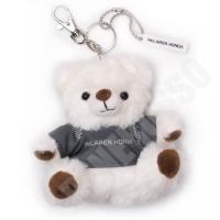 マクラーレン・ホンダ 公認商品です。 白い熊のぬいぐるみが付いたキーホルダーです。 マクラーレン・ホ...