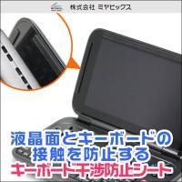 GPD Win に対応したキーボード干渉防止シート。液晶面のフチに干渉防止シートを貼ることでキーボー...