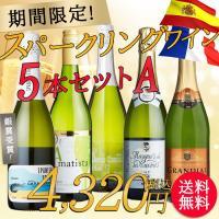 【party】【期間限定】スパークリングワイン バラエティ5本セットA【内容】750ml ☆スパニッ...