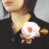 コサージュ チェコ製 アクセサリー  ピンク |vivace-yokohama|04