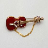 ブローチ  アメリア製 ギター 赤・小|vivace-yokohama|04