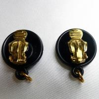 イヤリングパーツ ドイツ製クリップイヤリングプラスティックパーツ黒18mm(セット)|vivace-yokohama|02