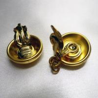 イヤリングパーツ ドイツ製クリップイヤリング プラスティックパーツ マットゴールド18mm(セット)|vivace-yokohama|02