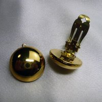 イヤリングパーツ ドイツ製クリップイヤリング プラスティック ゴールド20mm(セット)|vivace-yokohama