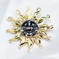ブローチ ドイツ製 メタリックアクセサリー 太陽|vivace-yokohama