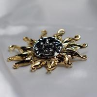 ブローチ ドイツ製 メタリックアクセサリー 太陽|vivace-yokohama|03