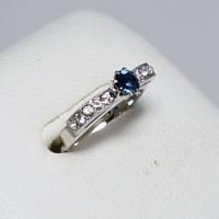 デザインリング フリーサイズ ドイツ製 スワロフスキー カラー:サファイア&ダイヤモンド|vivace-yokohama|02