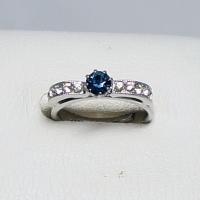 デザインリング フリーサイズ ドイツ製 スワロフスキー カラー:サファイア&ダイヤモンド|vivace-yokohama|03