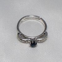 デザインリング フリーサイズ ドイツ製 スワロフスキー カラー:サファイア&ダイヤモンド|vivace-yokohama|05