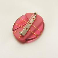 ブローチ  イタリア製 プラスティック マット仕上げ サークル ピンク|vivace-yokohama|05