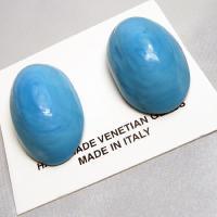 イタリア製ベネチアンビーズターコイズのクリップイヤリング 大|vivace-yokohama|06