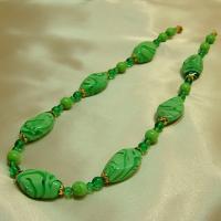 ネックレス イタリア製ベネチアングラス ロング 2色 グリーン|vivace-yokohama