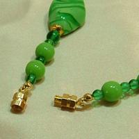 ネックレス イタリア製ベネチアングラス ロング 2色 グリーン|vivace-yokohama|03
