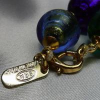 ネックレス イタリア製ベネチアングラス 糸結び マルチ9色 |vivace-yokohama|04