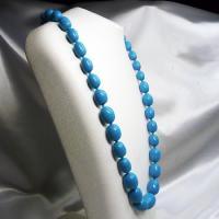 ネックレス イタリア製ベネチアングラス ロング 糸結び 青|vivace-yokohama|02