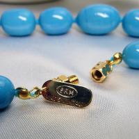 ネックレス イタリア製ベネチアングラス ロング 糸結び 青|vivace-yokohama|05