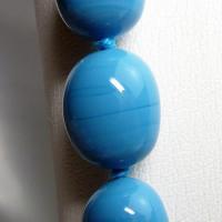 ネックレス イタリア製ベネチアングラス ロング 糸結び 青|vivace-yokohama|06