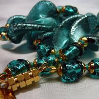 ネックレス イタリア製ベネチアングラス 中ロングネックレス 糸結び エリカ ラグーナグリーン 55cm|vivace-yokohama|06