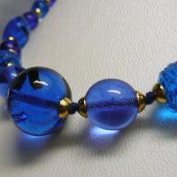 ネックレス イタリア製ベネチアングラス 糸結び 45cm ブルー|vivace-yokohama|04