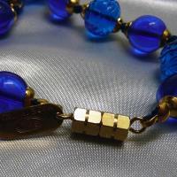 ネックレス イタリア製ベネチアングラス 糸結び 45cm ブルー|vivace-yokohama|06