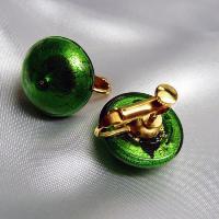 イヤリング  イタリア製  ベネチアングラス  ボタン グリーン|vivace-yokohama|05