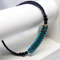 ブレスレット イタリア製輸入アクセサリー チューブベネチアングラスブレス ブルー|vivace-yokohama|04