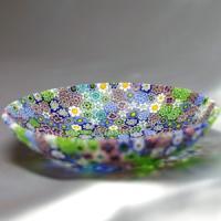 ベネチアングラス 皿 (中) ミルフィオーリ (パステル) イタリア製 モレッティ社|vivace-yokohama|03