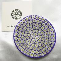 ベネチアングラス皿(小)ミルフィオーリ(白/黄)|vivace-yokohama|02