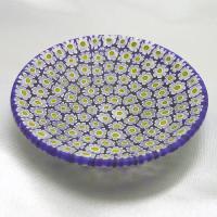 ベネチアングラス皿(小)ミルフィオーリ(白/黄)|vivace-yokohama|04
