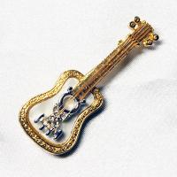 ブローチ  アメリカ製 ギター 小|vivace-yokohama|02