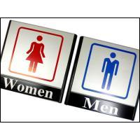 商品説明  ★ピクトサインプレート トイレマーク看板です。   ■シンプルデザイン男女トイレマークで...