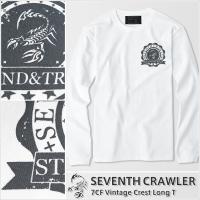 メンズ 長袖Tシャツ【7CF Vintage Crest Long T】