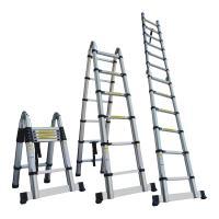◆クーポン配布中◆  最長3.8mまで伸びるはしご。 伸縮自在で使用時には1段ずつの引き伸ばし可能!...