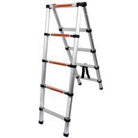 ◆クーポン配布中◆  最長1.4mまで伸びるはしご。 伸縮自在で使用時には1段ずつの引き伸ばし可能!...
