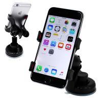 [送料無料/即日発送]  iPhoneやスマートフォンを取り付けたまま自由自在に回転させられる車載ホ...