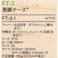 ナースシューズ メディカルシューズ 美脚ナース FT-3 (22.0〜26.0cm) シューズ フォーク (FOLK) 取寄