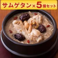 博淑屋 食べる本格薬膳スープ 参鶏湯 サムゲタン キット 5個セット 韓国 スープ 鍋 鶏 薬膳 レトルト お取り寄せ お土産 特産品 名物商品 母の日 おすすめ
