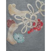 和柄 レディース 半袖Tシャツ ハイネック 組みひも 和風 花柄 大きいサイズ,婦人服,吸汗速乾,清涼感,母の日