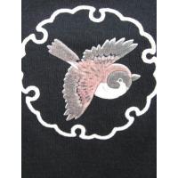 和柄ノースリーブTシャツ 鳥丸 和風 大きいサイズ S,M,L,LL,メンズ