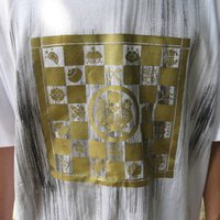 「百式髑髏」 半袖 長袖 五分丈 七分丈 和柄 Tシャツ 金箔押し 大きいサイズ メンズ LL,3L,4L,5L,6L,7L